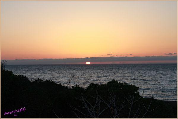 Coucher de soleil Corse d'automne