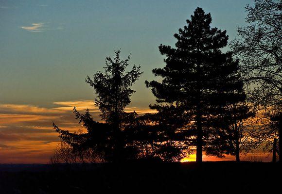 Coucher de soleil dans le Gers  --  Sonnenuntergang in dem Gers
