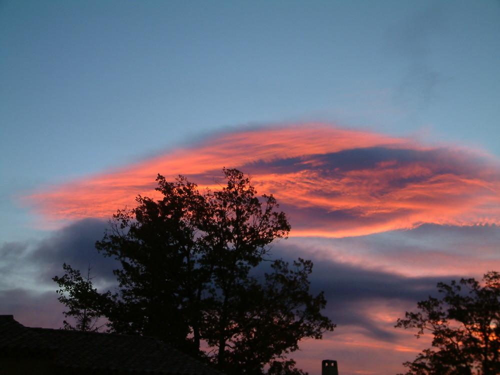 coucher de soleil dans le var