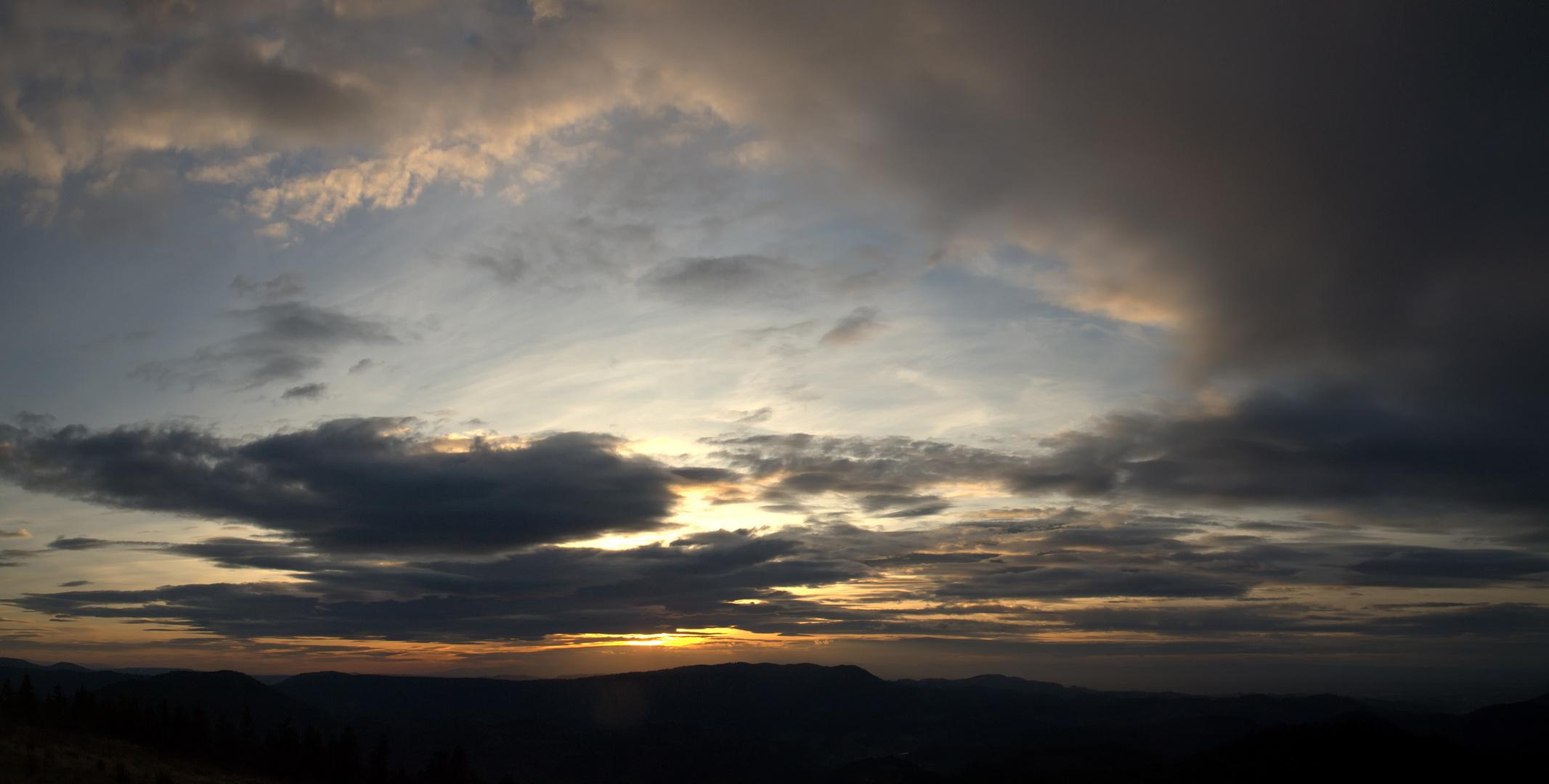 Coucher de soleil dans les Vosges