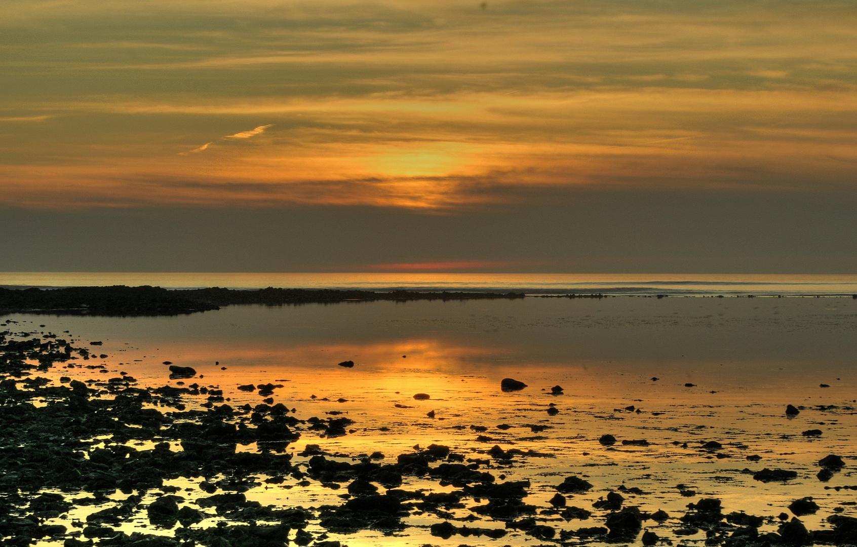 coucher de soleil dans l'ile de Ré