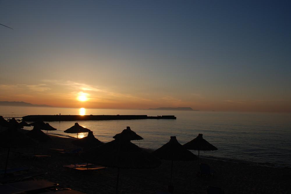Coucher de soleil de Crete