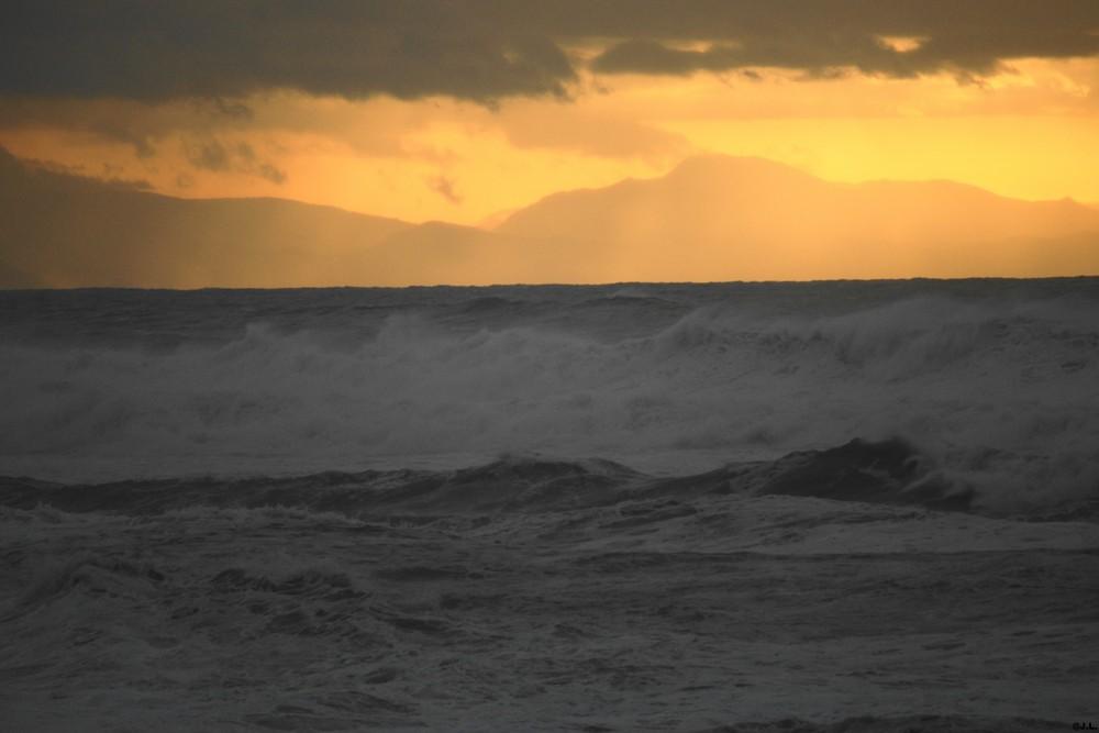 COUCHER DE SOLEIL D'HIVER A LABENNE-OCEAN (40)
