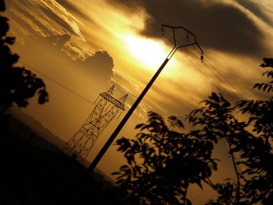 coucher de soleil electrique