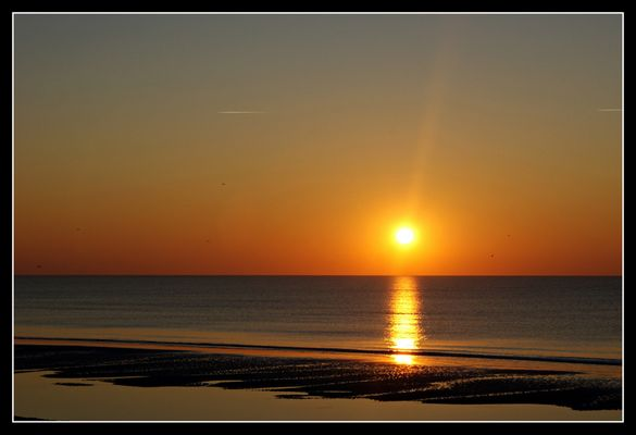 Coucher de soleil en Baie de Somme (1)