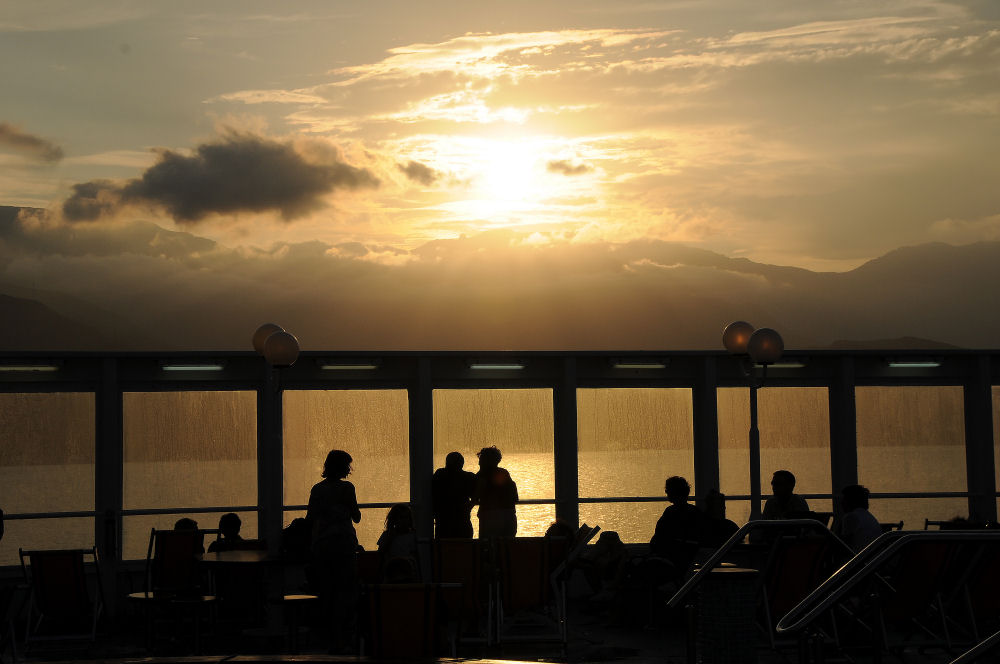 Coucher de soleil en bateau