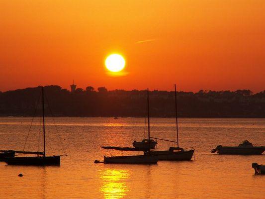 coucher de soleil en bretagne
