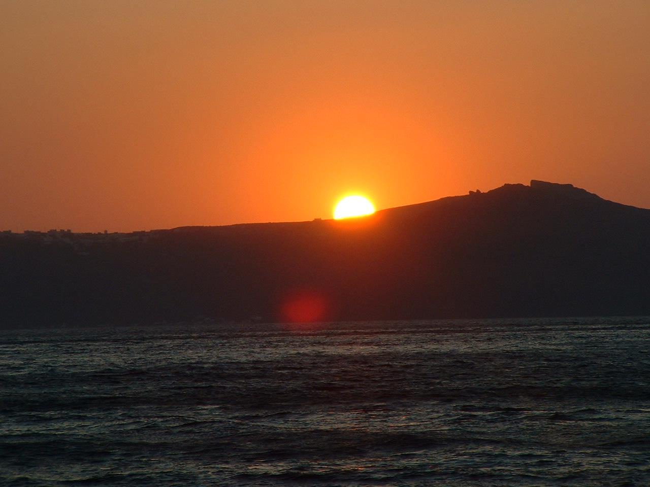 Coucher de soleil en Crète