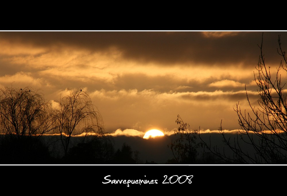 Coucher de soleil en Lorraine