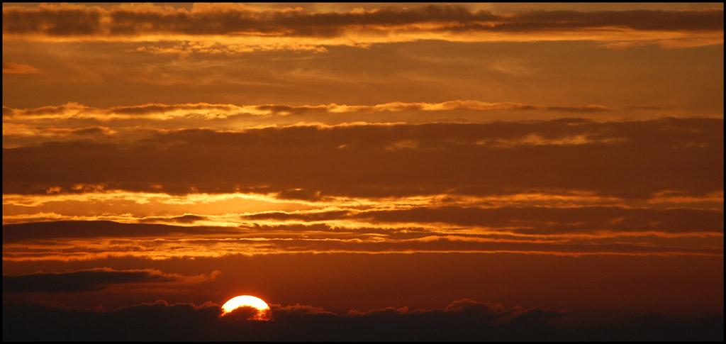 Coucher de soleil et nuages