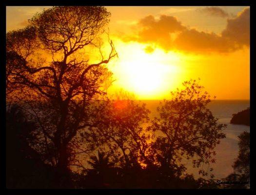 Coucher de soleil grande terre Mayotte