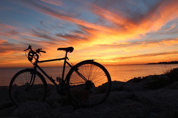 Coucher de soleil La Rochelle pays du vélo !