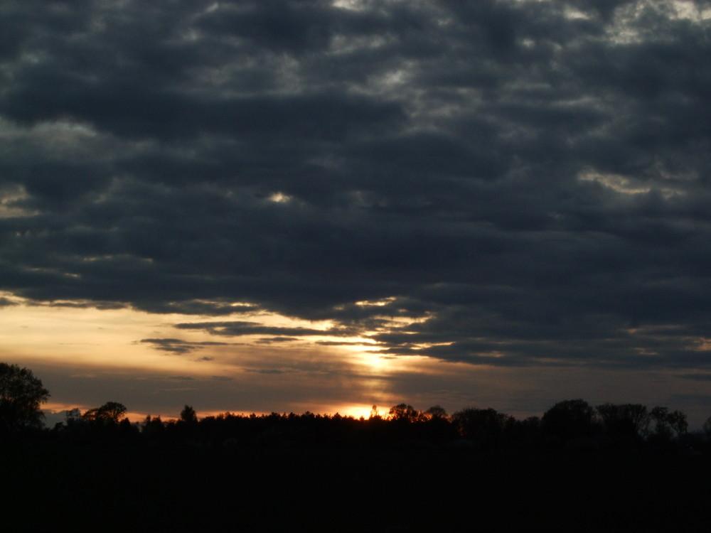 coucher de soleil nuage