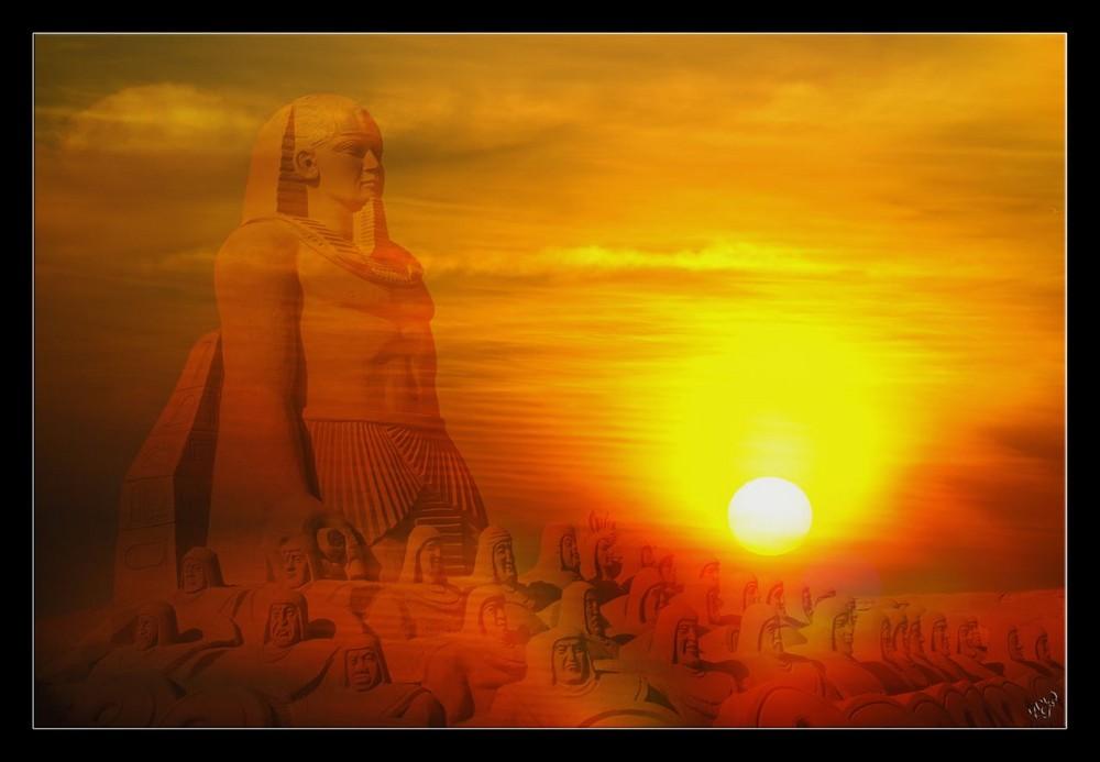 coucher de soleil pharaonique