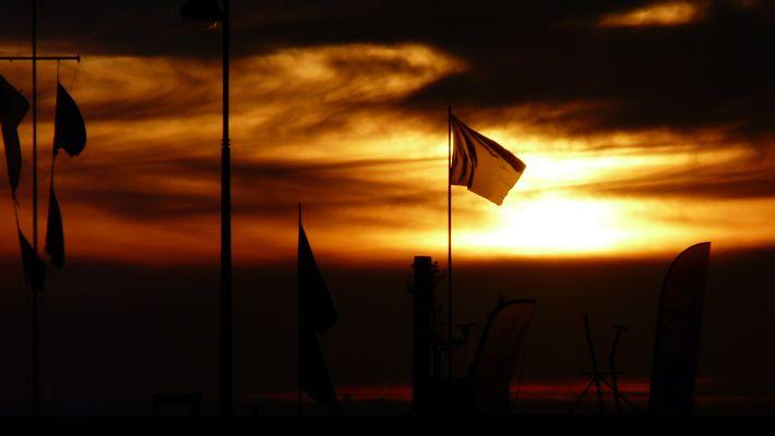 Coucher de soleil, port d'Erquy