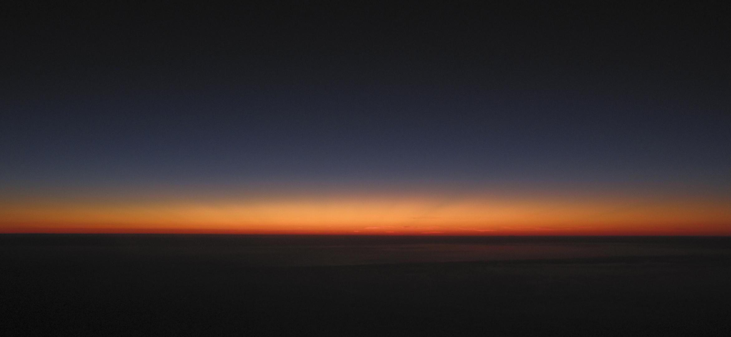 coucher de soleil pris en altitude...