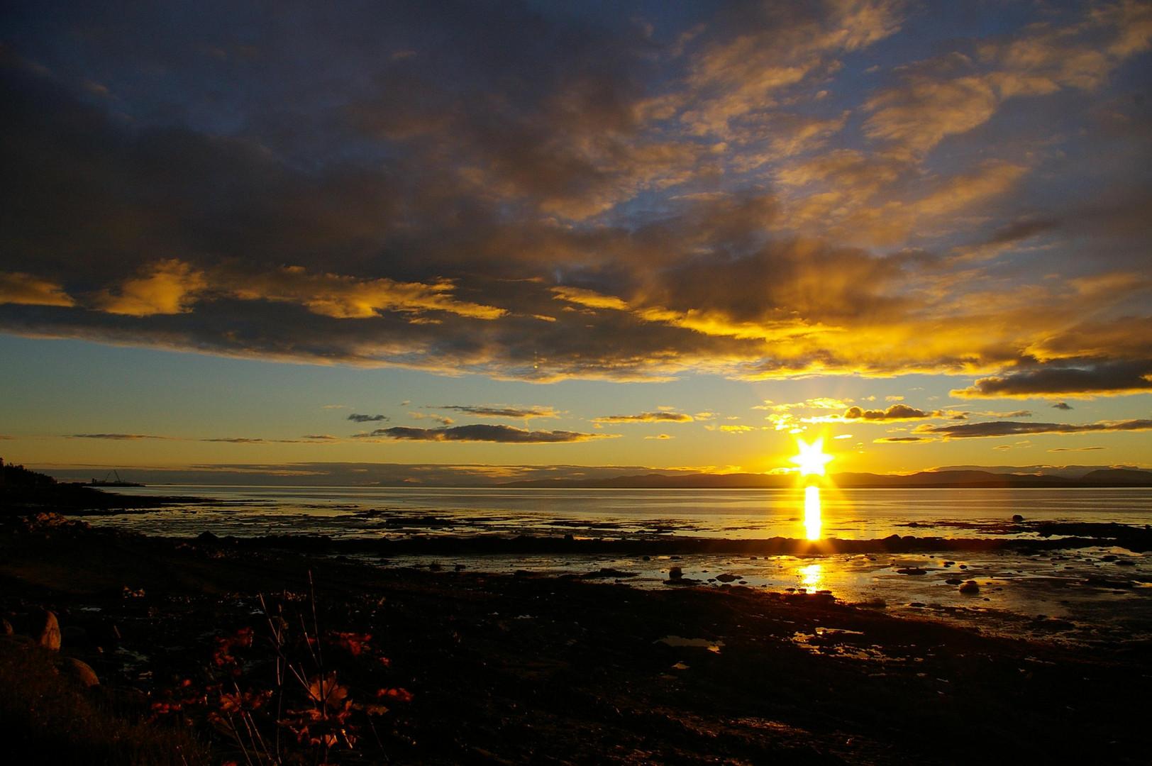 coucher de soleil (Rivière du Loup)