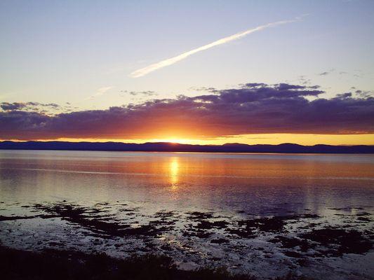 coucher de soleil (Rivière du Loup, Québec, Canada)
