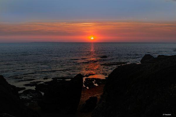 coucher de soleil               Saint Hilaire De Riez