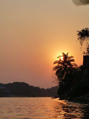 Coucher de soleil sur Ayutthaya