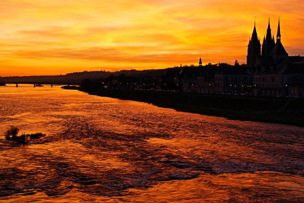 coucher de soleil sur Blois 01