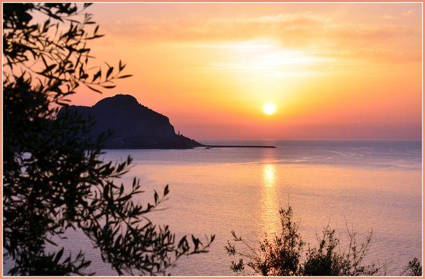 Coucher de soleil sur Cefalu
