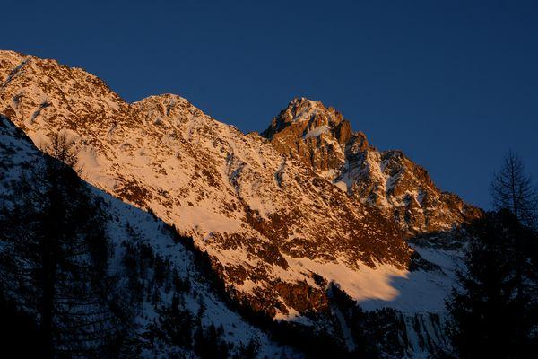 coucher de soleil sur Chardonnet
