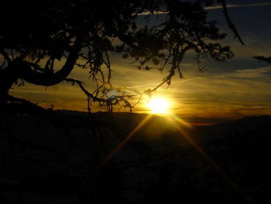 Coucher de Soleil sur Font Romeu