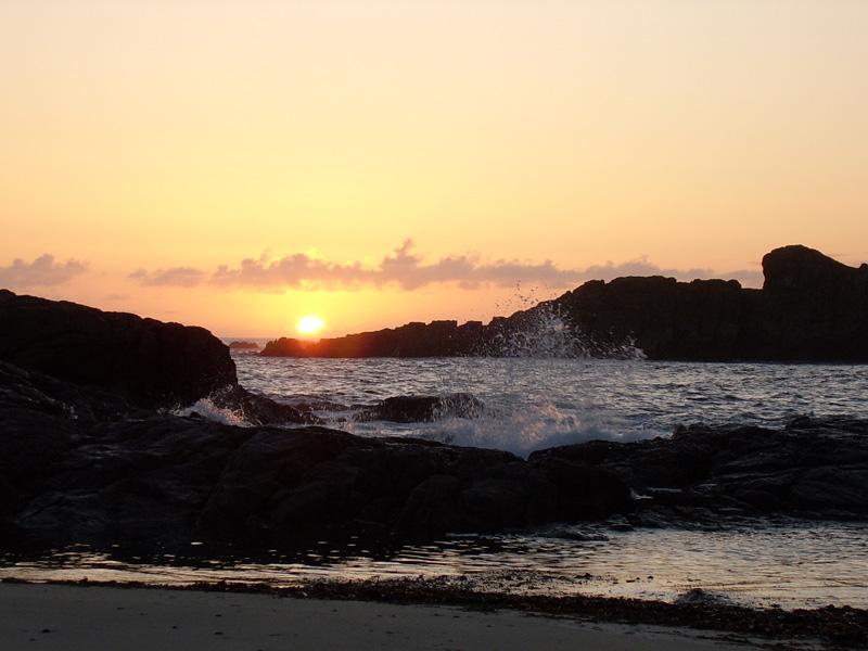 Coucher de soleil sur Iona (Ecosse)