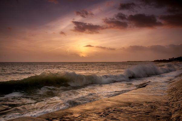coucher de soleil sur l ile de Ré