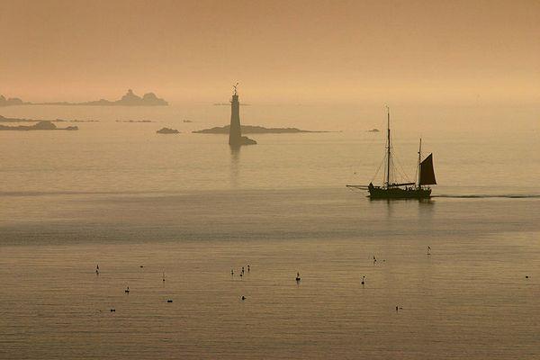 Coucher de soleil sur la Baie de Saint-Malo