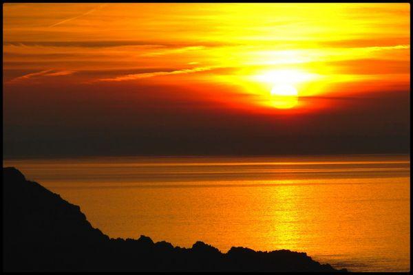 coucher de soleil sur la baie de St-Brieuc