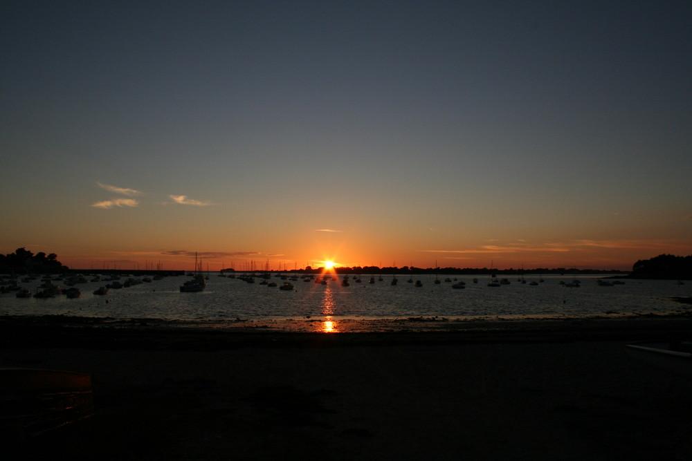 coucher de soleil sur la Bretagne