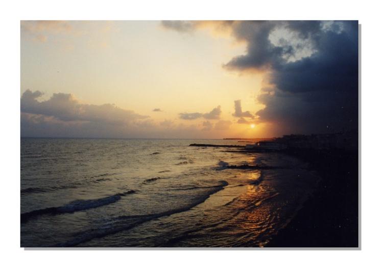 coucher de soleil sur la Crete
