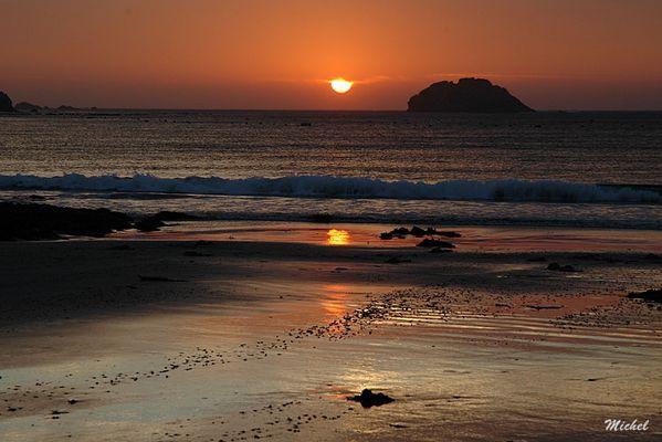 Coucher de soleil sur la grande roche.