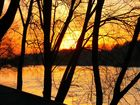 Coucher de soleil sur la Loire