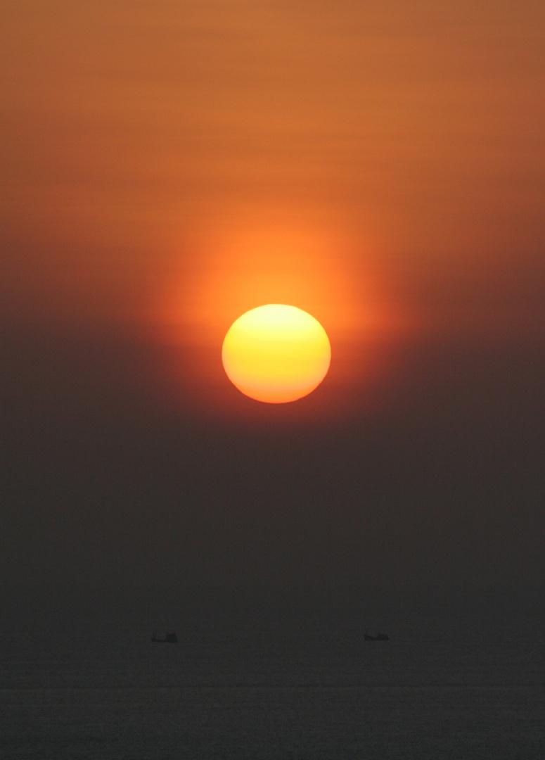 Coucher de Soleil sur la mer d'Andaman