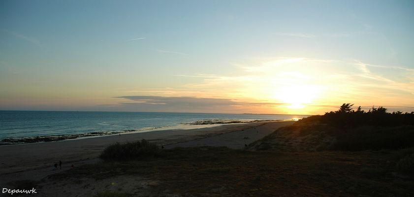 Coucher de soleil sur la plage Bidon V