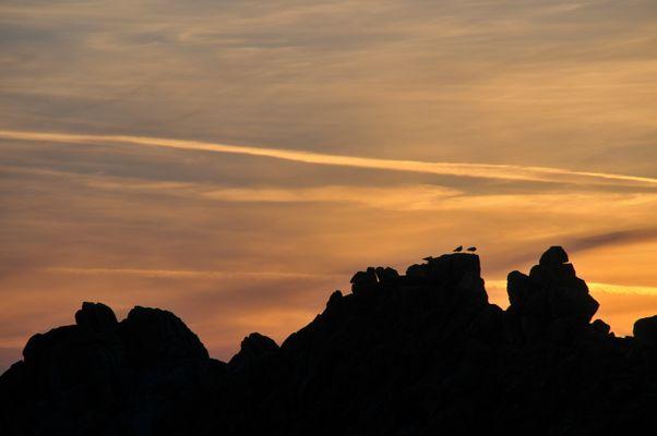 coucher de soleil sur la pointe du raz