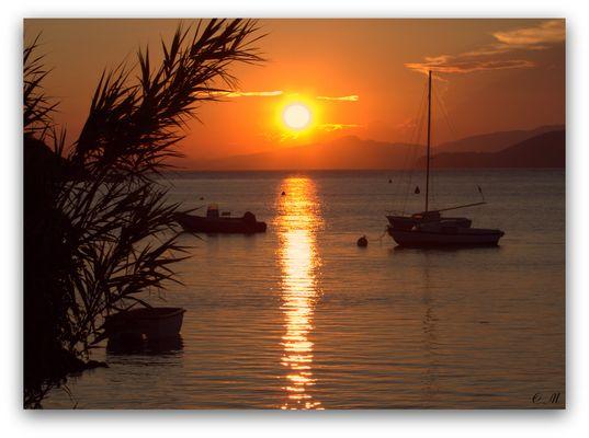 Coucher de soleil sur la Presqu'île de Giens