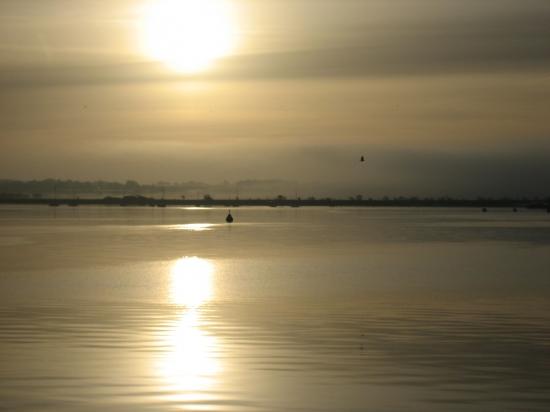 coucher de soleil sur la rade de lorient