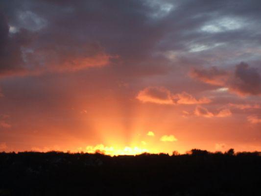 coucher de soleil sur lannion