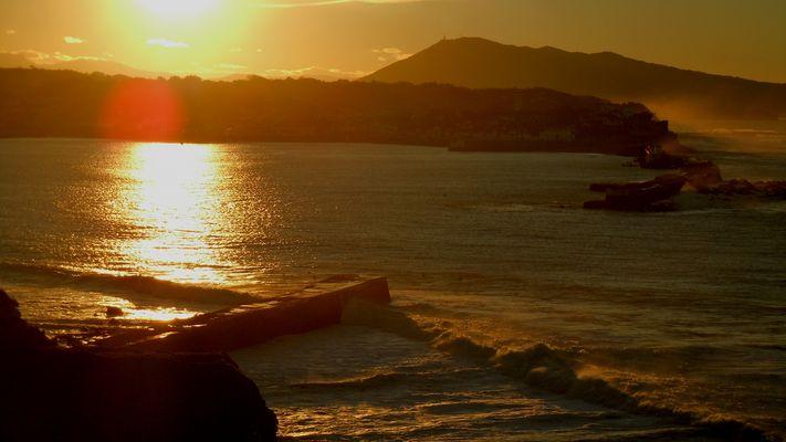Coucher de soleil sur l'Atlantique