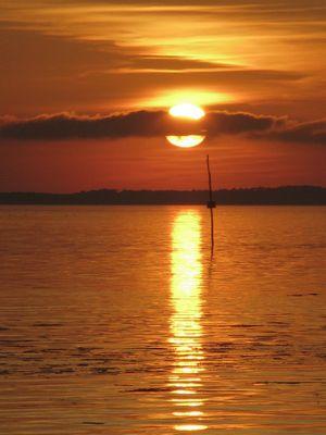 Coucher de soleil sur le Bassin d'Arcachon
