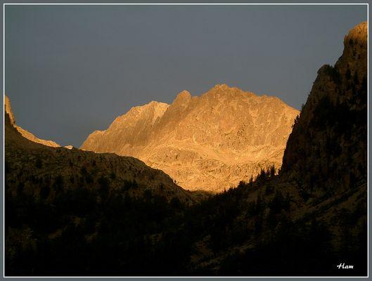 Coucher de soleil sur le mont Gélas 3143 mètres