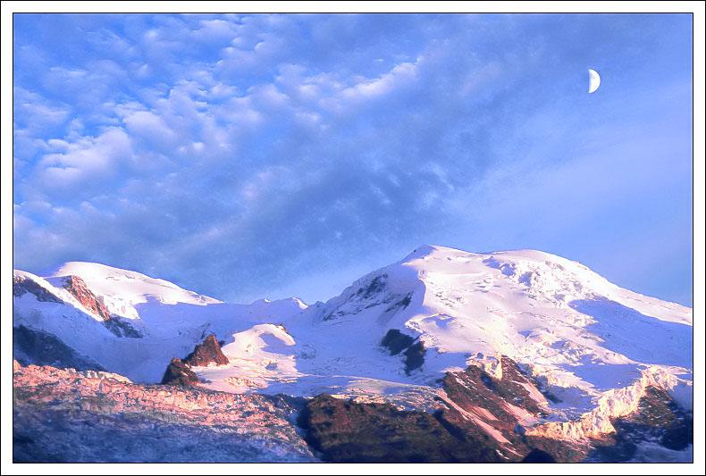 Coucher de soleil sur le Mt Blanc