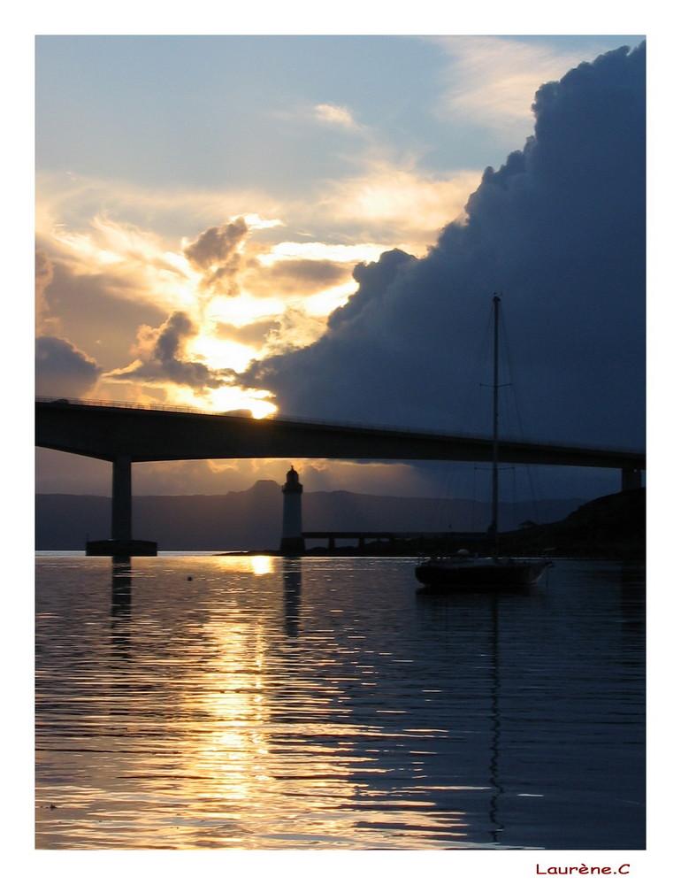 Coucher de soleil sur le port...