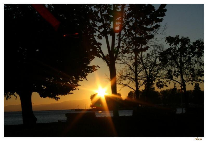 Coucher de soleil sur les quais d'Ouchy