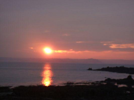 coucher de soleil sur locquemeau