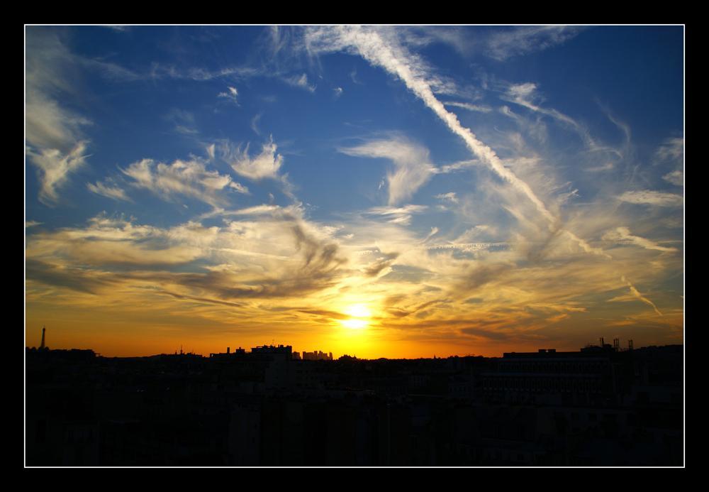 Coucher de soleil sur Paris 2